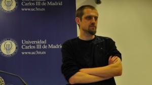 Florent Marcellesi en la Universidad Carlos III (Getafe, Madrid)