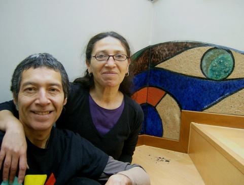 Los artistas Gustavo Suasnábar y Cristina Pino| Todos los derechos reservados.