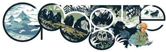 Doodle de Google sobre Dian Fossey (16/01/14)