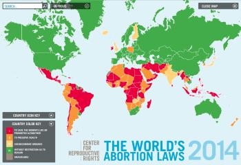 Mapa interactivo de worldabortionlaws.com