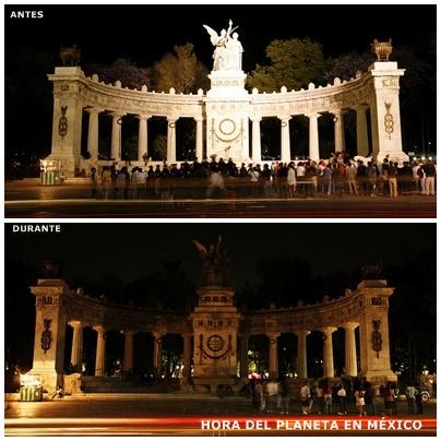 Monumento a Juárez, Ciudad de México |Fotos por: Earth Hour |Algunos derechos reservados
