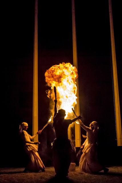 Ceremonia de celebración en Sri Lanka |Foto por: Earth Hour |Algunos derechos reservados
